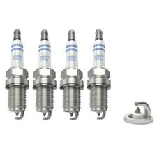 4 X BOSCH DOUBLE PLATINUM SPARK PLUGS FITS FORD LAND ROVER MG ROVER MERCEDES SET