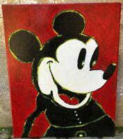 Franco Belvedere - Olio su tela - Mickey Mouse 1930/40 - 40x50 cm - Certificato