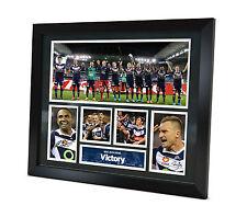 Berisha - Thompson - Signed Melbourne Victory 2015 photo Framed Memorabilia