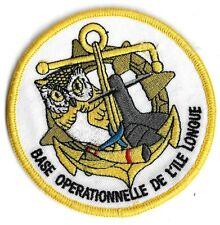 Ecusson MARINE NATIONALE BASE OPÉRATIONNELLE DE L ILE LONGUE BREST 29