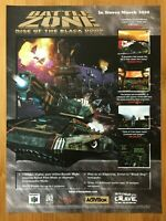 Battlezone: Rise of the Black Dogs N64 2000 Vintage Poster Ad Art Official Promo
