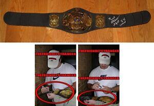 "BRET HITMAN HART signed JAKKS ""WWF"" CHAMPIONSHIP BELT - EXACT PROOF 5X Champ COA"