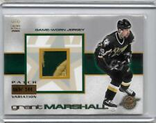 2000-01 Crown Royale Game-Worn Jersey Patches #10 Grant Marshall/144 Jsy Stars
