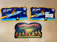 Vintage Sewing Needle Books Atomic Gold Eye And Our World God Eyed- Lot Of 3