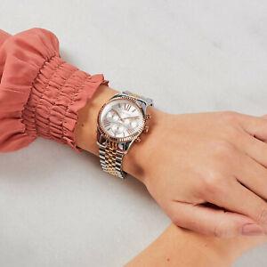 New Authentic Michael Kors Lexington MK5735 Yellow Gold Chronograph Women Watch