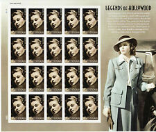 INGRID BERGMAN STAMP SHEET -- USA #5012 FOREVER 2015 LEGENDS OF HOLLYWOOD