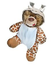 "Giraffe One piece PJ's, fits 16"" teddy mountain and Build a Bear"