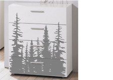 Pine Trees Drawer IKEA Malm Vinyl Decal For Front Drawer Faces