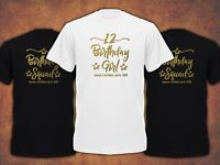 Personalised Birthday Girl Squad  5th 6th 11th 12st 13th 14th 15th T-shirt Kids