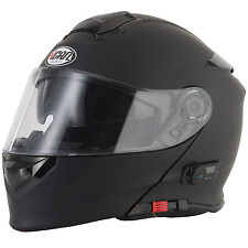 2016 VCAN V271 Blinc 5 Bluetooth Flip Front up Motorcycle Helmet FM Radio Matt Black M