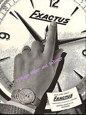 1952 Exactus Watch Company Neuchatel Switzerland Vintage 1950s Swiss Ad Suisse