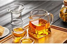 300ml 10fl.oz Heat Resisted Clear Glass Tea Cup Square Dispenser Serving Mug