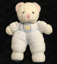 Vintage Eden White Plush Teddy Bear Blue Baby Stuffed Animal