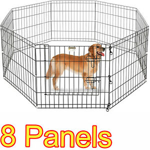 Folding Exercise Portable Pet Playpen Indoor Outdoor Dog Puppy Fences Gate Cage