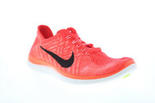 Nike Free 4.0 Flyknit 717076-602 Womens Orange Mesh Athletic Running Shoes 8