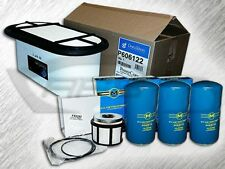 7.3L TURBO DIESEL OVAL AIR FILTER 3 OIL FILTERS & 1 FUEL FILTER KIT FOR FORD