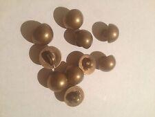 15 x Botones de cúpula de acrílico media bola color bronce 10mm