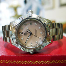 TAG Heuer Ladies S/S Aquaracer Pink Mother Of Pearl Diamond Dial WAF141A.BA0813