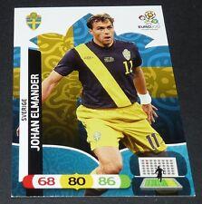 JOHAN ELMANDER SVERIGE SUEDE FOOTBALL CARD PANINI UEFA EURO 2012