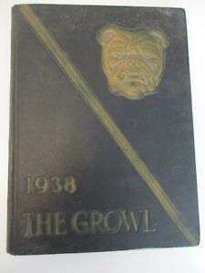 1938 The Growl Yearbook Texas Lutheran College Sequin, TX