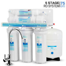 5 Stage Undersink Reverse Osmosis RO System Drinking Water Filter 75 GPD