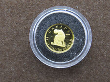 2007 50 CENTS 1/25 tr oz GOLD COIN CANADA TIMBER WOLF PROOF COIN 9999 PURE GOLD