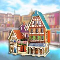 Hoelzerne 3D Hand DIY Stereo Puzzle Puzzle Tafel Kinder Puzzle Spielzeug Ha A2N4