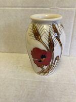 "Moorcroft ""Harvest Poppy"" Vase 393/5 Emma Bossons RRP £176 Christmas Gift 🎁🎁"