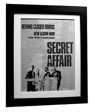 SECRET AFFAIR+Behind Closed+POSTER+AD+RARE ORIG 1980+FRAMED+EXPRESS GLOBAL SHIP