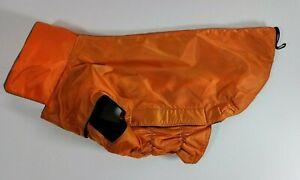 NEW Dog Jacket. Wind & Water-resistant, Easy Put-On - Stretch, Size XL - Orange