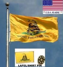 3x5*USA Made GADSDEN DONT TREAD ON ME Rebel In/Outdoor FLAG & PIN Snake Banner