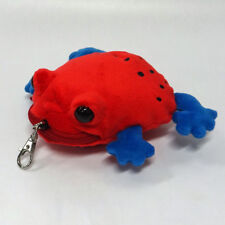 Strawberry Poison-dart Frog Pouch  ' with self-retracting reel '