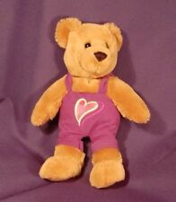 "Boy Purple Clothes Hallmark Heart  9"" Plush Teddy Stuffed animal Lovey"