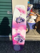 Purple & pink hyperlite wakeboard with boots. Great condition.