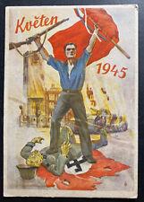 1946 Prague Czechoslovakia picture Postcard Cover Liberation Day B
