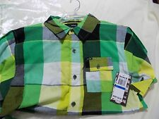 Hurley Big Boys' Inversion Woven Shirt, Or Green, X-Large