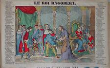 Rare Vintage Imagerie Epinal Pellerin print/Le Roi Dagobert  INV2294