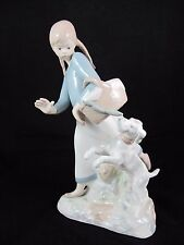 Rex Valencia Porcelain Girl With Braids Dog Stealing Sausages Figurine