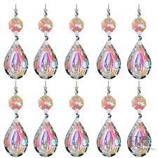 10X Rainbow Chandelier Crystals Lamp Prisms Parts Hanging Drops Pendants 38mm