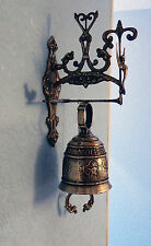 Vintage Brass Hanging Monastery Bell. Vocem Miam Audi Qui Me Tangit