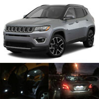 11 x White LED Interior Bulbs License Plate Lights For 2017-2019 Jeep Compass