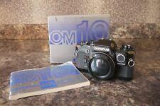 Olympus OM10 BLACK Quartz Date 35mm SLR + Manual Adapter + BOXED