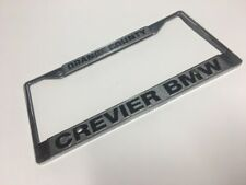 Vintage Dealer License Plate Orange County Crevier BMW CHROME METAL RARE!