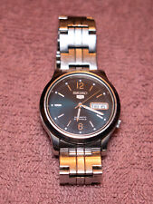 Seiko 5 Steel Automatic 21 Jewels Mens Watch Used