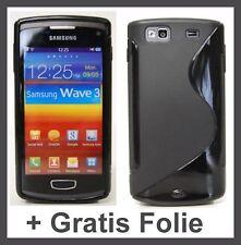 Schutzhülle für Samsung Wave 3 S8600 Hülle + Folie Displayfolie Schutzfolie S1