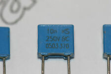 5x 0.01uF 250V Poly Film Capacitor Radial Potted MKT370