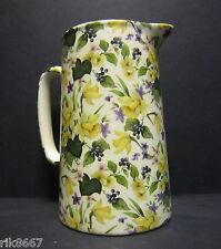 Heron Cross Pottery DAFFODILS Chintz English 2 Pint Milk Jug