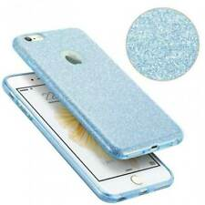 COVER Custodia Glitter BLING Morbida Silicone per APPLE IPHONE 5 5S SE Blu