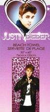 "Justin Bieber Beach Towel Pink Leopard 100% Cotton 30""x60"""