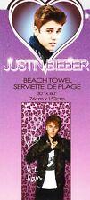 "Justin Bieber Beach Towel Pink Leopard 100% Cotton 30""x60"""